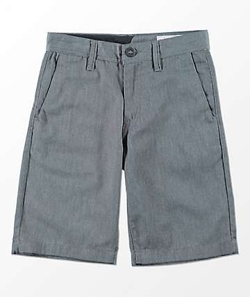 Volcom Youth Frickin Charcoal Chino Shorts