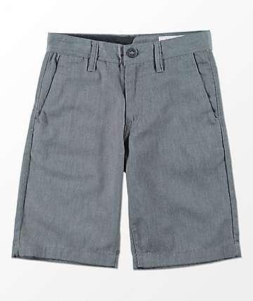 Volcom Youth Frickin Charcoal Chino Shorts