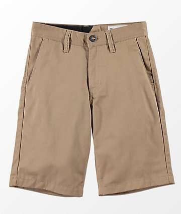 Volcom Youth Frickin Khaki Chino Shorts
