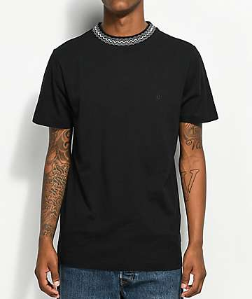 Volcom x Kyle Walker Black Knit Crew Neck T-Shirt