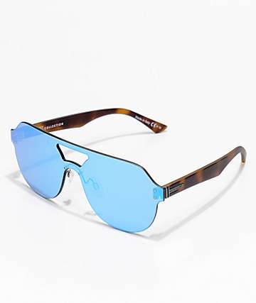 Von Zipper ALT-Psychwig Tortoise Satin & Sky Chrome Frameless Sunglasses