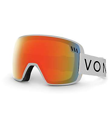 Von Zipper Alt Fire Chrome & White Snowboard Goggles