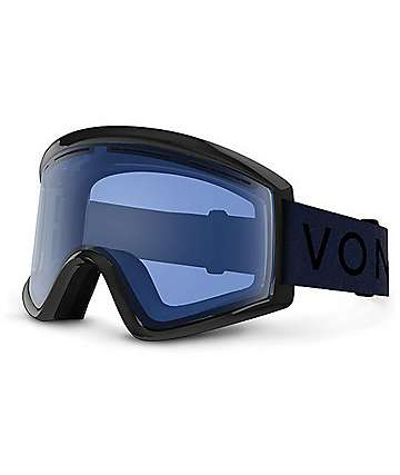 Von Zipper Cleaver Black Satin Fire Crome máscara de snowboard