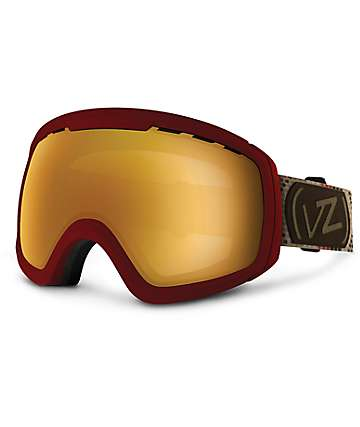 Von Zipper Feenom JJ Red & Copper Chrome Snowboard Goggles