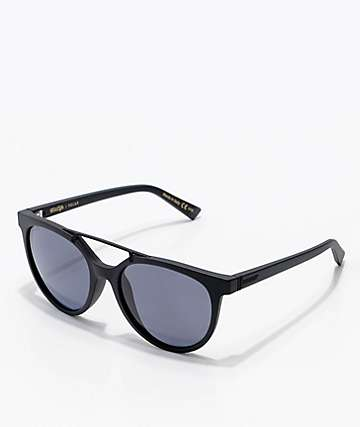Von Zipper Hitsville Black Satin & Grey Polarized Sunglasses