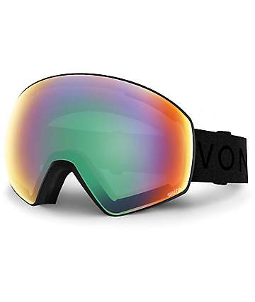 Von Zipper Jetpack Black Satin & Wildlife Lens Snowboard Goggles