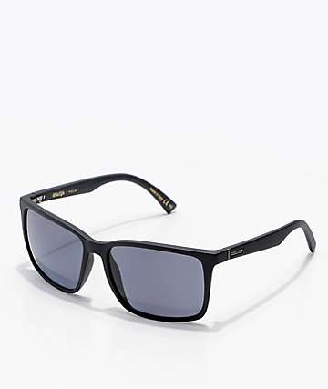 Von Zipper Lesmore Black Satin Polarized Sunglasses