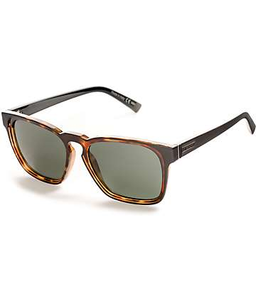 Von Zipper Levee Black Satin & Tortoise Sunglasses