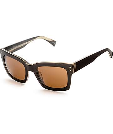 Von Zipper Roscoe Blackwood Satin Bronze Sunglasses
