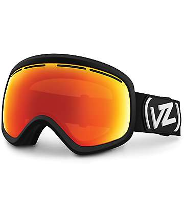 Von Zipper Skylab Black Satin & Fire Chrome Snowboard Goggles