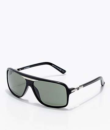 Von Zipper Stache Black Gloss & Grey Sunglasses