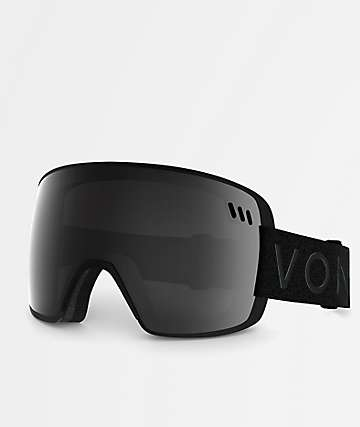 VonZipper Alt XM Black Satin Chrome Snowboard Goggles