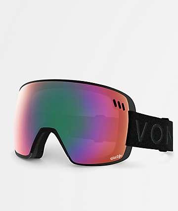 VonZipper Alt XM Black Satin Wildlife Snowboard Goggles