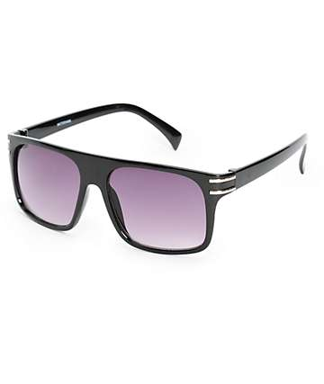 Watermark Black Flat Top Sunglasses