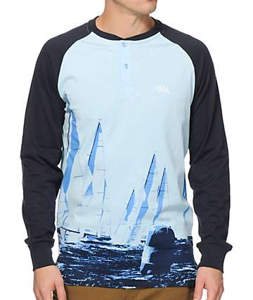 Waters & Army South Hold Long Sleeve Henley T-Shirt