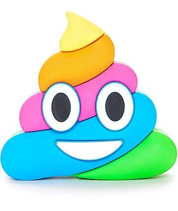 WattzUp Rainbow Poop Emoji cargador portatil de banco de poder
