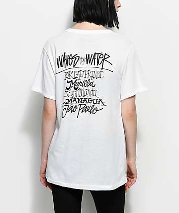Waves For Water Shawn Stussy White T-Shirt