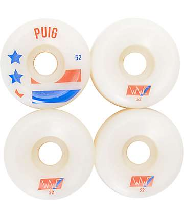 Wayward Wheels 107% Puig 52mm 101a Skateboard Wheels