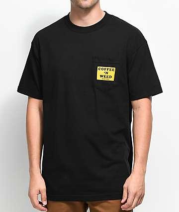 Weather MTN Morning Classic camiseta negra con bolsillo