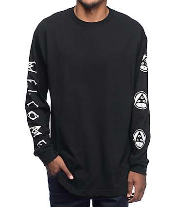 Welcome Binary Black Long Sleeve T-Shirt