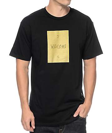 Welcome Crescent Black T-Shirt