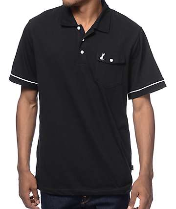 Welcome Jackalope  Black Polo Shirt