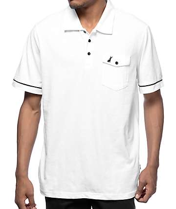 Welcome Jackalope White Polo Shirt