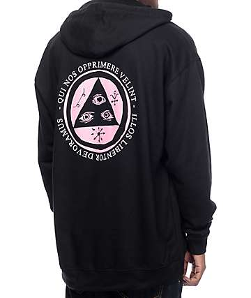 Welcome Latin Talisman Black Hoodie