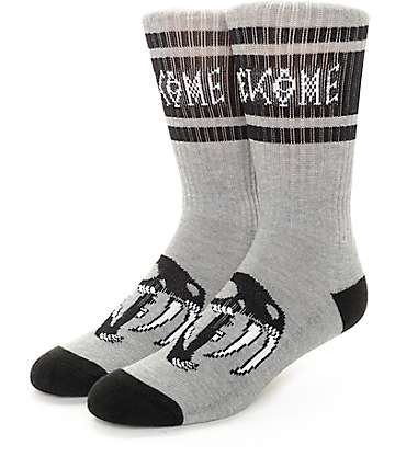 Welcome Saberskull Heather Grey Socks