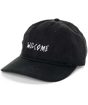 Welcome Scrawl Black Baseball Hat