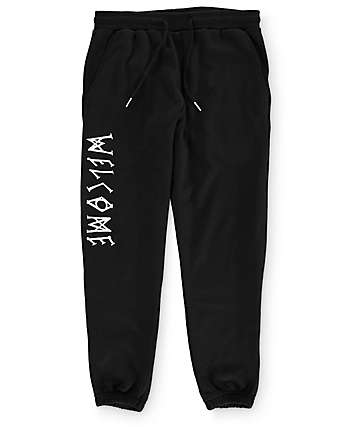 Welcome Scrawl Black Sweatpants