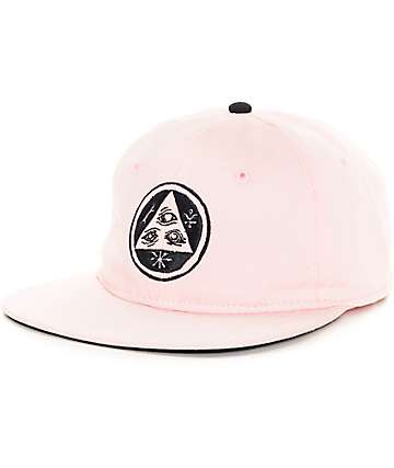 Welcome Skateboards Talisman Unstructured Pink Strapback Hat