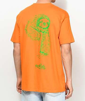 Welcome Sloth camiseta en color naranja