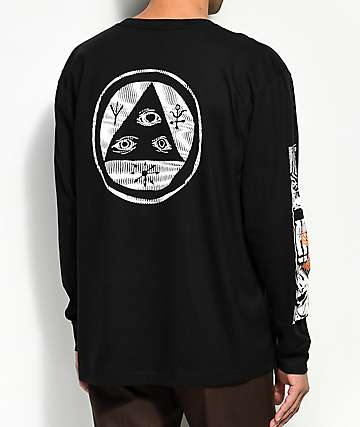 Welcome Statue Black Long Sleeve T-Shirt