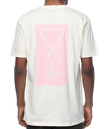 Welcome Symbol Natural & Pink T-Shirt