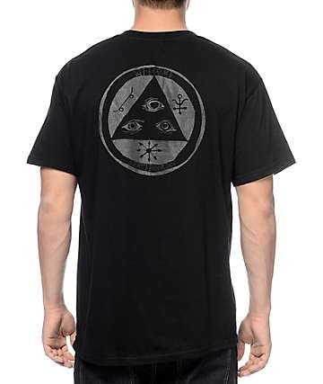 Welcome Talisman Gradient Reflective Black T-Shirt