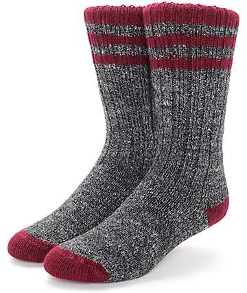 Wigwam Pine Lodge Charcoal & Burgundy Socks