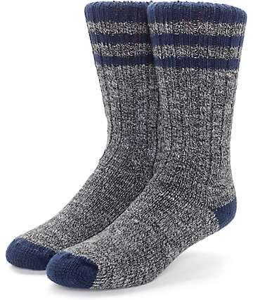 Wigwam Pine Lodge Charcoal & Navy Socks