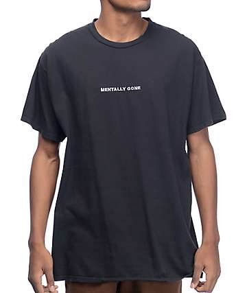 Wildroot Mentally Gone Black T-Shirt