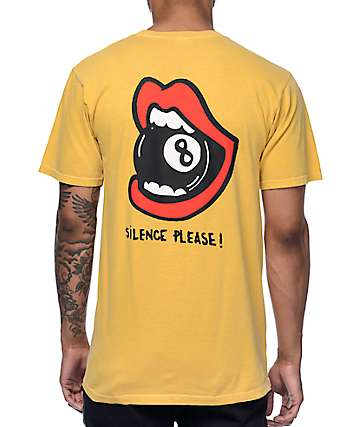 Wildroot Silence Please Yellow T-Shirt