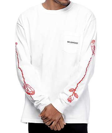 Wildroot White Long Sleeve T-Shirt