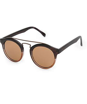 Wood Grain Retro Sunglasses