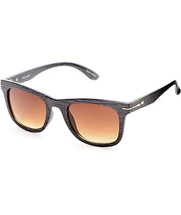 Woodson Black & Gold Temple Classic Sunglasses