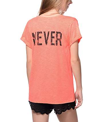 Workshop As If Never Coral Cuff T-Shirt