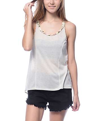 Workshop Ava Rose Allover Cream Tank Top