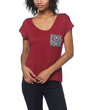 Workshop Kourtney Kaleidoscope Tribal Pocket Dolman T-Shirt