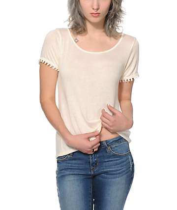 Workshop Stella Crochet Trim T-Shirt
