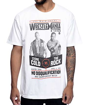 Wrestle Mania 17 White T-Shirt