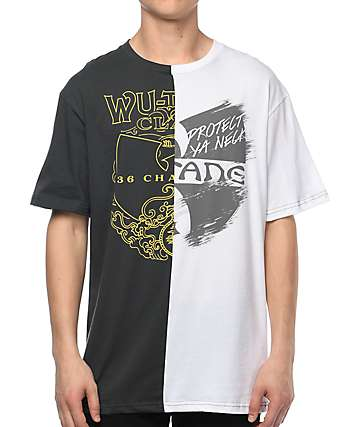 Wu-Tang Split Black & White T-Shirt