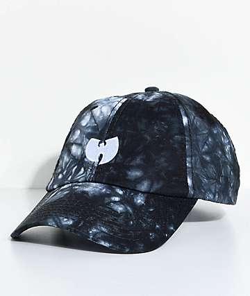 Wu-Tang gorra strapback en con efecto tie dye en azul
